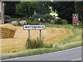 TM0275 : Wattisfield Village Name sign on the A143 Snape Hill by Adrian Cable