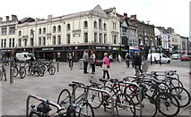 ST1876 : Bicycles and Burger King in Cardiff city centre by Jaggery