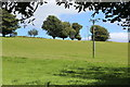 SO1801 : Transmission line across field, Hafodrisclawdd-fawr Farm by M J Roscoe