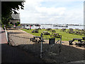TQ6474 : Royal Clarendon Hotel garden by John Baker