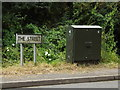 TM0071 : The Street sign & Telecommunication Box by Adrian Cable