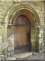 SE4436 : Lotherton Chapel, Norman doorway by Stephen Craven