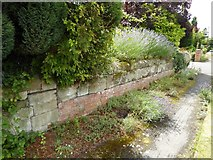SP2160 : Surviving wall from grounds of Snitterfield House by Philip Halling