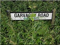 H5559 : Hidden road sign, Garvaghy Road by Kenneth  Allen
