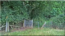 SK7259 : Gate by Duke's Wood by Chris Morgan