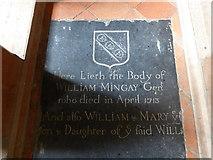TM3898 : St Gregory, Heckingham: ledger slab (1) by Basher Eyre