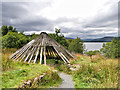 NX5576 : Iron Age Roundhouse near Clatteringshaws Loch by David Dixon