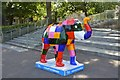 SK3387 : Herd of Sheffield:  Elmer the Patchwork Elephant by Andrew Tryon