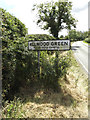 TM0572 : Allwood Green Village Name sign on the B1113 Finningham Road by Adrian Cable