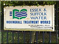 TM0474 : Rickinghall Water Treatment Works sign by Adrian Cable