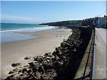 SC2484 : Sea defences, Peel by Christine Johnstone