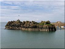 NW9954 : Dorn Rock, Portpatrick Harbour by David Dixon