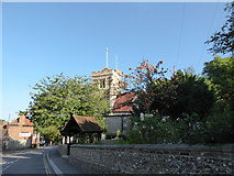 TQ1289 : St John the Baptist, Pinner: mid August 2016 by Basher Eyre