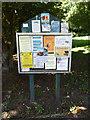 TL9674 : Stanton Village Notice Board by Adrian Cable