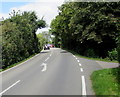 SO7803 : White arrow on Bath Road, Frocester by Jaggery