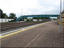 J0407 : Footbridge over north-bound line and sidings at Dundalk Clarke Station by Eric Jones