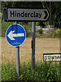 TM0175 : Roadsigns on Townhouse Lane by Geographer