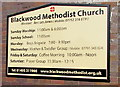 ST1797 : Information board, Blackwood Methodist Church, Blackwood by Jaggery
