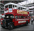 TQ4266 : Vintage Tilling bus at Bromley bus garage by David Kemp