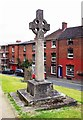 SO6775 : Celtic cross in churchyard of St. Mary's Church, Cleobury Mortimer, Shrops by P L Chadwick