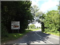 TM0890 : B1077 Haugh Road & roadsign by Adrian Cable
