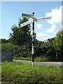 TM0789 : Roadsign on New Buckenham Road by Adrian Cable