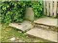 SJ8869 : Milestone at the Harrington Arms (1) by Alan Murray-Rust