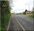 SN7909 : Warning sign - road narrows south of Ystradgynlais by Jaggery