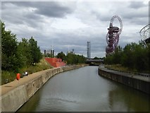 TQ3784 : City Mill River and ArcelorMittal Orbit by David Smith