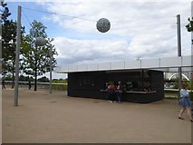 TQ3784 : Snack Bar, Olympic Park by David Smith