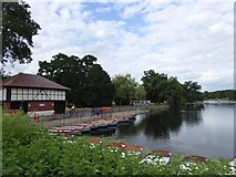 TQ4387 : Boats for hire, Valentines Park, Ilford by David Smith