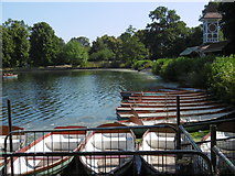 TQ4387 : Boats on The Lake in Valentines Park by Marathon