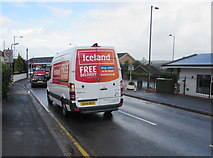 ST3090 : Iceland home delivery van in Pillmawr Road, Malpas, Newport by Jaggery