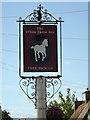 TL9969 : The White Horse Public House sign by Adrian Cable