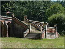 SU7209 : Steps to the terrace of the former Leigh Park House by Chris Gunns