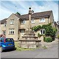 ST4112 : Village cross, Hinton St George by Bill Harrison