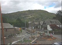 NY3816 : Flood reconstruction work, Glenridding village by Karl and Ali