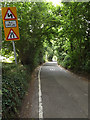 TQ4165 : Barnet Wood Road & Roadsign by Adrian Cable