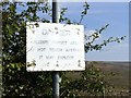 SK0263 : Ageing danger sign near military training area by Graham Hogg