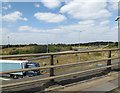 TQ5572 : M25 Slip Road off the M25 London Orbital Motorway by Adrian Cable