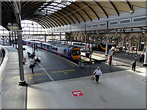 NZ2463 : A Trans-Pennine Express train at Newcastle Central Station by John Lucas