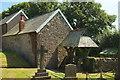 SS7821 : Old school and lych gate, Rose Ash by Derek Harper