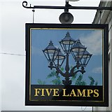 SK3436 : Five Lamps sign by David Lally
