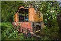 SJ2165 : Derelict locomotive near Mold, Flintshire (1) by Mike Searle