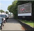 ST1167 : Mazda MX-5 advert, Broad Street, Barry by Jaggery