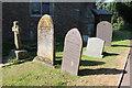 SP4398 : St Martin, Stapleton - Gravestones by John Salmon