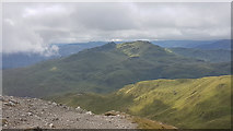 NN6240 : Looking towards Meall Garbh and Meall nan Tarmachan from Beinn Ghlas by Doug Lee