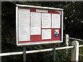 TL9875 : Hepworth Village Notice Board by Adrian Cable
