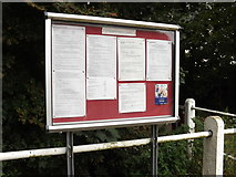 TL9875 : Hepworth Village Notice Board by Adrian Cable
