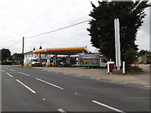TL9573 : Shell Fuel Filling Station, Stanton by Adrian Cable